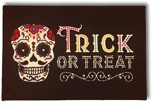 """万圣节糖骷髅小地毯 Trick Or Treat - 装饰地毯 - 50.8 厘米 x 76.2 厘米万圣节装饰 糖头骨 20"""" x 30"""""""