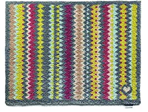 Hug Rug T140 Eco-Friendly Absorbent Dirt Trapping Indoor Washable Mat Grey Zig Zag 25.6-Inch x 33.5-Inch