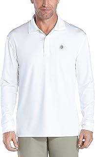 Coolibar 男式 UPF 50 Plus 运动紫外线 Polo T 恤