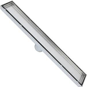 zoic 19.68/23.62/27.56/31.49/1.8CM 线性 STEALTH 瓷砖插入地板机配件浴室淋浴垃圾 drain-304不锈钢