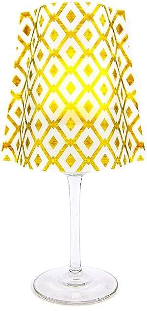 MODGY 磨砂*玻璃罩 - 包括带电池的浮动蜡烛 金色 Lolly SH5010