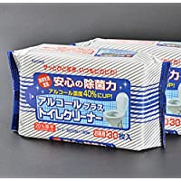 日本 马桶湿巾 (3包装)每包30片 马桶圈清洁湿巾 便携湿纸巾 卫生除菌消毒湿巾