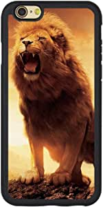 Andenley 动物狮子手机壳风格柔软 TPU 橡胶手机壳保险杠[防刮]黑色手机壳盖 iPhone 5/5s/SE,6/6s,6P,7/8,7P/8P iPhone 7p/8p 黑色