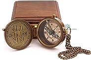 Roorkee Instruments 印度指南针,木质盒/丈夫礼物/送给他人的礼物/送给他人的礼物