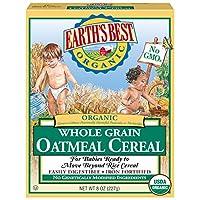 Earth's Best  嬰兒麥片, 全麥燕麥片,8盎司盒裝(12個裝)
