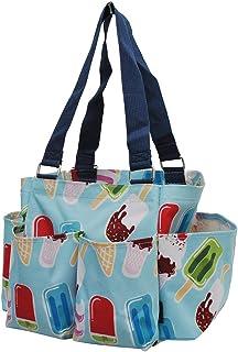NGIL 小型拉链收纳袋 手提袋 Ice Cream World-Aqua 均码