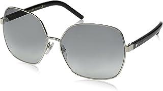 Marc Jacobs Women's Marc65s Square Sunglasses, Palladium Black/Gray Gradient, 61 mm