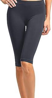 ClothingAve. 女式轻质纯色骑行短裤氨纶瑜伽紧身裤 10、12、19 英寸