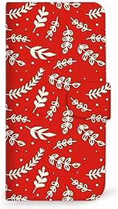 MITAS 智能手机保护壳翻盖型圣诞节红色  A 14_Disney Mobile (DM016SH)