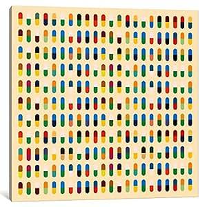 "iCanvasART 1 件现代艺术 - 10 粒胶囊画布印刷品,45.72 cm x 45.72 cm/3.81 cm 深 18"" x 18"" MA27"