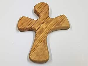 Bethlehem Gifts TM 橄榄木祈祷十字架:手持十字架,完美贴合您的手形 Simple NA