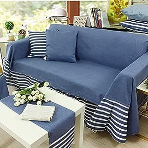 沙发套保护套,高弹性面料沙发棉适用于沙发 3 座椅- Dark Blue#2 190 * 200cm