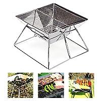Quick Grill 中号:原装折叠木炭烧烤架不锈钢材质