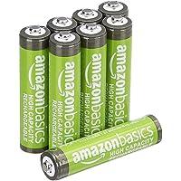 AmazonBasics 亚马逊倍思 预充电镍氢电池,500循环(典型2500mAh,*小2400mAh),(外罩可能与显示有所不同)HR-4UTHA-AMZN (8P)  Batterien AAA, 8 Stück
