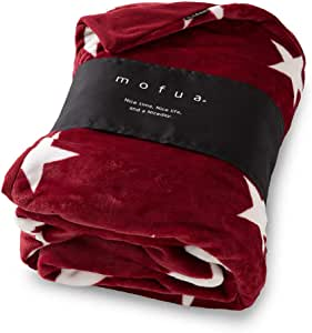 mofua 被套 被子包裹 暖和 毯子 星柄ワインレッド シングル 402501R9
