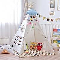 乐昂 印第安帐篷 环保实木棉质帆布玩具屋 可拆卸易收纳宝宝故事屋
