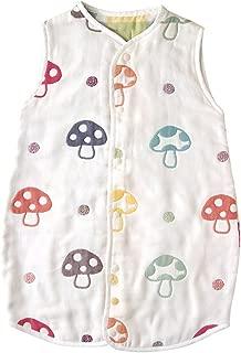 日本Hoppetta 寶寶6層透氣紗布 四季通用空調被 蘑菇圖案 (日本亞馬遜款)