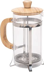 1 升大玻璃法压壶咖啡和散叶茶机 天然谷物 34 Ounce Large FPB509-1000ML