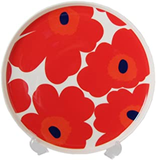 marimekko UNIKKO 盘 红色×白色 20cm 67955 001 【平行进口】 67955 001