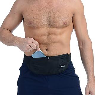 UShake 跑步腰带,男式或女式超轻弹性腰包健身锻炼腰带运动腰包运动腰包运动腰包 适用于 iPhone X XS 7 SE 6 6+ Samsung 跑步健身马拉松