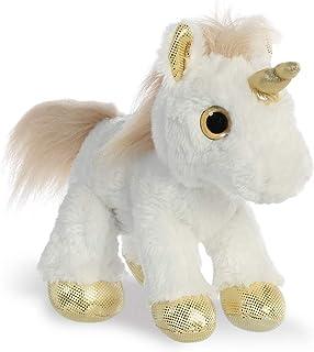 Aurora World 60856 Sparkle Tales Star 独角兽软玩具,金色,12 英寸