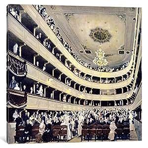iCanvasART 14012-1PC6-12x12 Zuschauerraum im alten Burgtheater 'The Old Burgtheater' Canvas Print by Gustav Klimt, 1.5 x 12 x 12-Inch