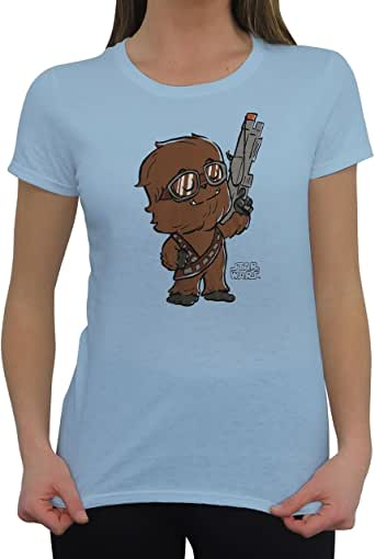 Star Wars Chewie Standing Proud SuperCute 青少年 T 恤 S 码
