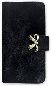 whitenuts 保护壳 手册式 丝带装饰WN-OD159009 21_ INFOBAR A03 KYV33 黑