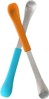Boon 二合一婴儿双头勺,蓝色/橙色