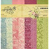 Graphic 45 4501872 Bloom 纸板 12x12 SLD/Ptrn
