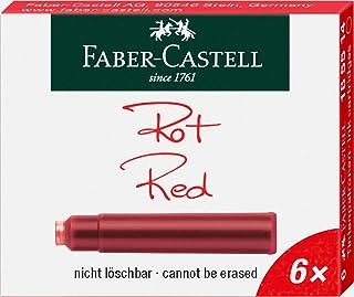Faber-Castell 辉柏嘉 185514 标准墨盒 6件装 红色