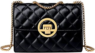 Sun Kea 女式经典格子单肩斜挎包女式时尚设计链手拿包钱包