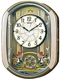 精工(SEIKO)电波音乐挂钟 30首旋律 旋转装饰 淡粉色的大理石花纹 RE567G