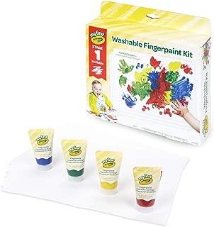 Crayola 繪兒樂 幼兒手指畫套裝 含畫紙 寶寶涂鴉 禮盒裝