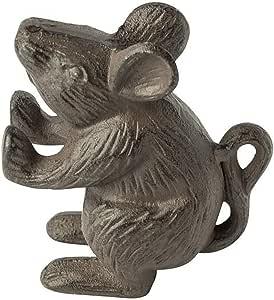铸铁鼠标装饰门挡 | 门坡跟 | 独特,古董设计 棕色 CM201558
