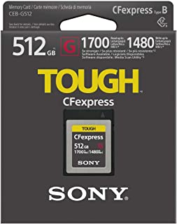 Sony CEB-G512 512GB Ultra Fast CFexpress 内存卡 1700MB/s 可读/写/1480MB/s