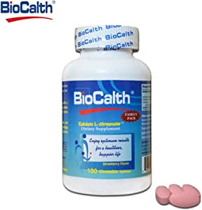 *含美国三号钙 * -BioCalth® 钙 L-threonate 180 粒咀嚼片