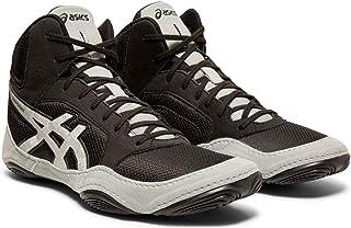 ASICS Dan Gable Evo 男士摔跤鞋 黑色/银色 11 Wide