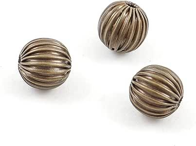 美丽的梅隆垫片金属珠饰 古铜色 耳环 手镯 项链 魅力饰品 棕色 4mm