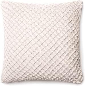 "Loloi P0125 装饰枕头 白色 22"" x 22"" PSETP0125WH00PIL3"