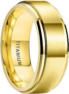 iTungsten 3 毫米银/黄金/玫瑰金/黑色钛戒指女士永恒婚礼订婚戒指白色/蓝色/粉色方晶锆石镶嵌舒适贴合