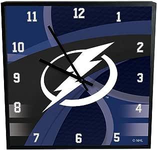The Memory Company NHL Tampa Bay Lightning 官方碳纤维方形时钟,多色,均码