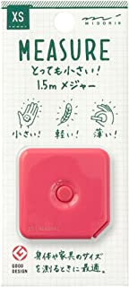 MIDORI XS 卷尺 1.5m 粉色