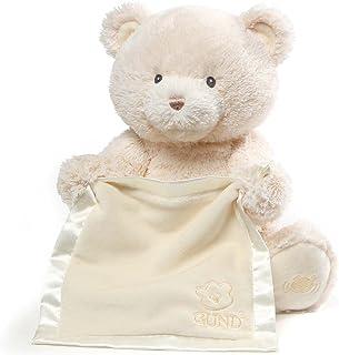 GUND 婴儿 MY First 泰迪熊躲猫猫动画婴儿填充动物玩具 霜