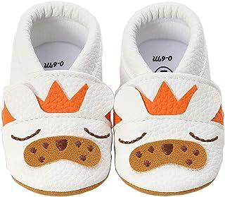 LIVEBOX 婴儿女宝宝鞋,优质柔软防滑蕾丝婴儿鞋亮片学步鞋玛丽珍皇冠公主礼服鞋适合 0-18 个月的婴儿