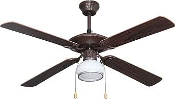 bastilipo Sitges 吊扇带灯 E27,60 瓦,胡桃色,132 x 47 厘米