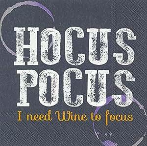 Ideal Home Range 3 层纸饮料/鸡尾酒餐巾 Hocus Pocus 5 x 5-Inches C027300