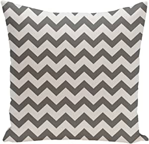 Ebydesign Chevron Decorative Pillow, Black-1