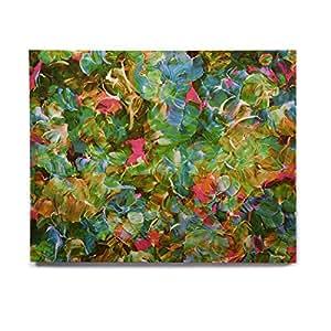 """KESS InHouse Ebi Emporium """"Bloom On! 热带""""绿色蓝色桦木墙壁艺术 8"""" x 10"""" JD1308AHW01"""