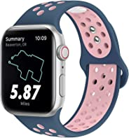 MITERV 运动表带兼容苹果手表 38mm 42mm 40mm 44mm iWatch 表带替换款适用于 Apple Watch 系列4 系列 3 系列 2 系列 1 系列 女士 S/M M/L